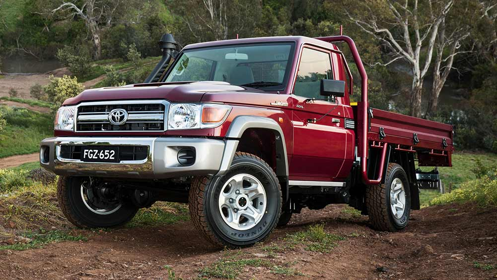 toyota landcruiser 70 series single cab 2016 review snapshot carsguide. Black Bedroom Furniture Sets. Home Design Ideas