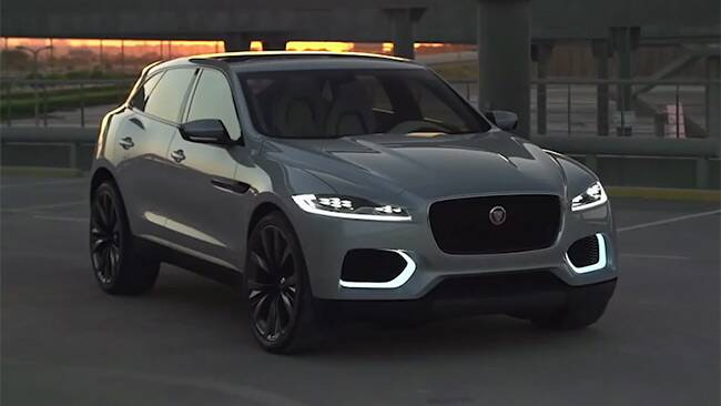 jaguar c x17 4x4 2016 prototype review video carsguide. Black Bedroom Furniture Sets. Home Design Ideas