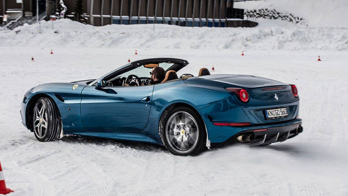 2016 ferrari california t review snow and ice test carsguide. Black Bedroom Furniture Sets. Home Design Ideas
