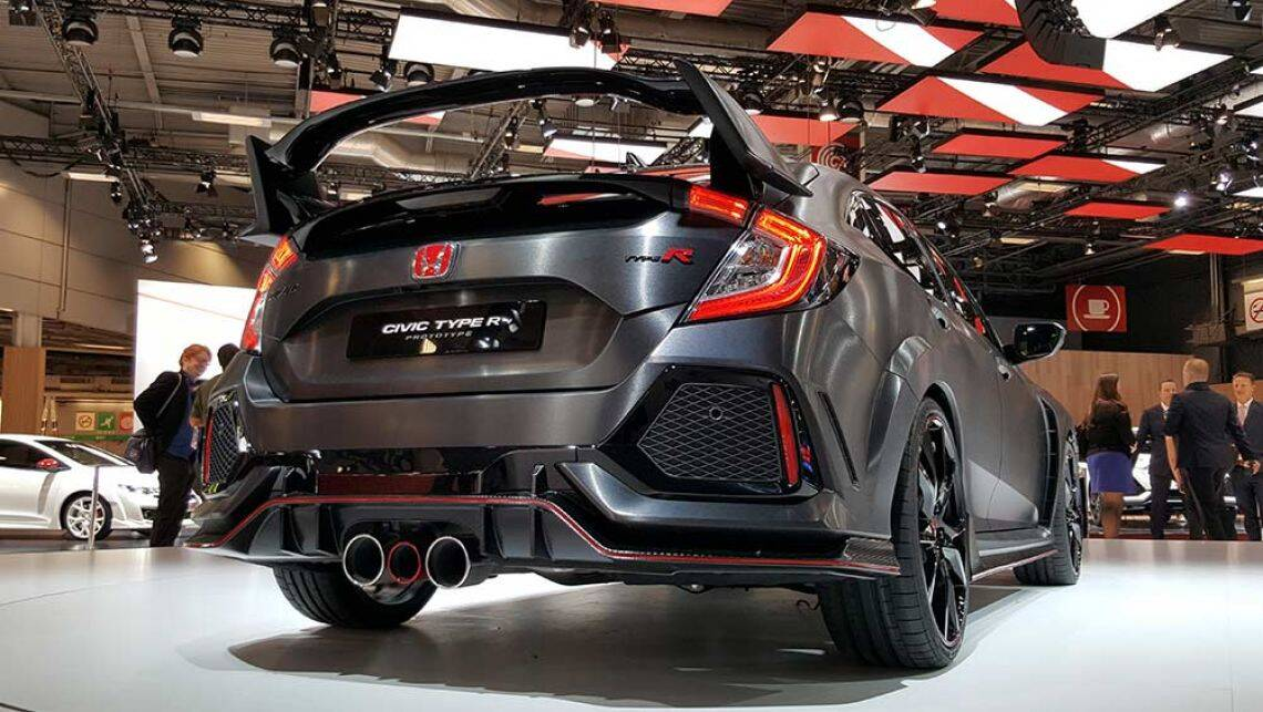 2017 honda civic type r revealed at paris motor show video car news carsguide. Black Bedroom Furniture Sets. Home Design Ideas