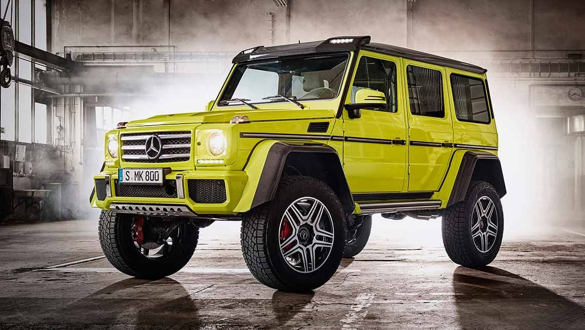 Mercedes benz g500 4x4 squared revealed car news carsguide for Mercedes benz 4x4 squared