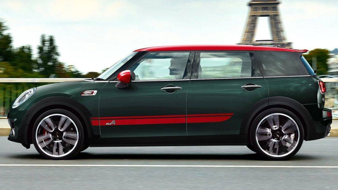 2017 mini john cooper works clubman revealed ahead of paris video car news carsguide. Black Bedroom Furniture Sets. Home Design Ideas