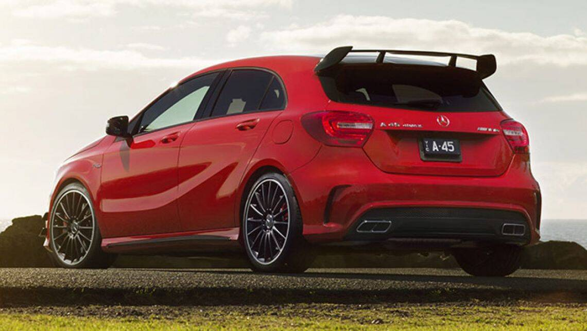 mercedes benz a45 amg review video carsguide. Black Bedroom Furniture Sets. Home Design Ideas