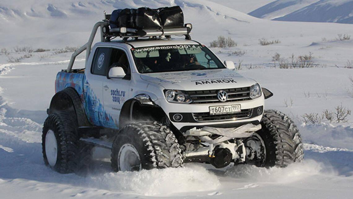 vw amarok tackles frozen trek car news carsguide. Black Bedroom Furniture Sets. Home Design Ideas