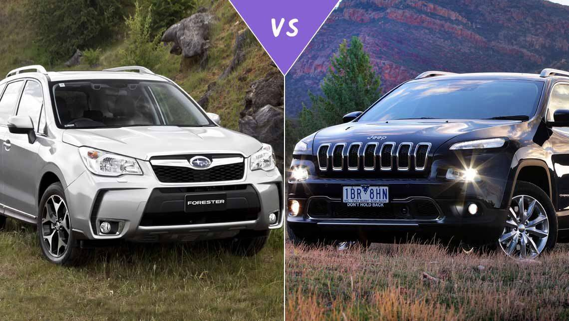 jeep cherokee vs subaru forester 2017. Black Bedroom Furniture Sets. Home Design Ideas