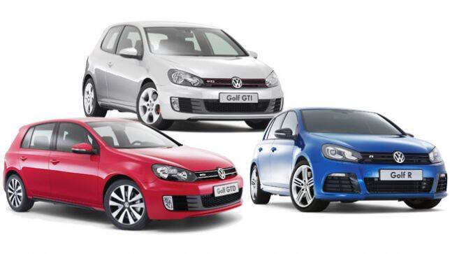 vw golf r vs golf gti vs golf gtd compared carsguide. Black Bedroom Furniture Sets. Home Design Ideas